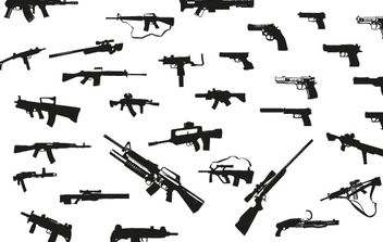 Guns free vector pack - vector #176913 gratis
