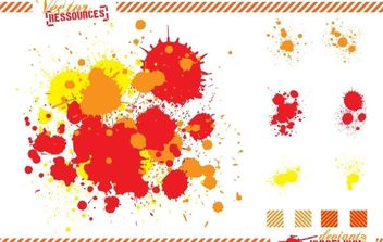 Splats and hatching free vector - Kostenloses vector #176993