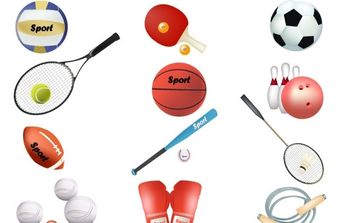 Free sports vector equipment - vector #177013 gratis