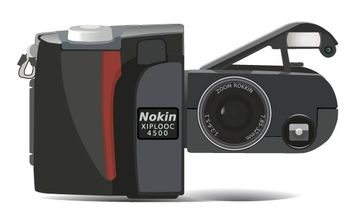 Digital Camera Nikon Coolpix clip art - бесплатный vector #177073