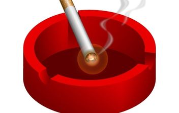 Ashtray with burning cigarette free vector - бесплатный vector #177113