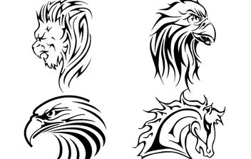 Tattoo Vectors - vector #177163 gratis