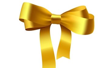 Yellow Ribbon Bow - vector gratuit #177203
