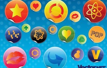 Glossy Design Badges - бесплатный vector #177453