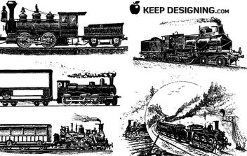 10 Train Vector Graphics - бесплатный vector #177463