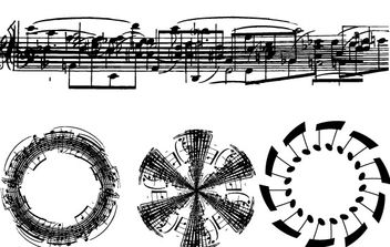 Sheet Music Note Vectors- Free - vector gratuit #177473