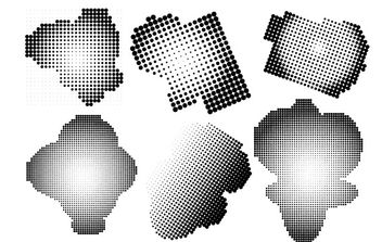 Halftone Free Vector and Photoshop Brush Pack - бесплатный vector #177603