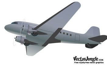 FREE RETRO STYLED VECTOR AIRPLANE - Free vector #177823