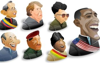 Freebie: 8 Political Characters Icon Set - vector gratuit #177833