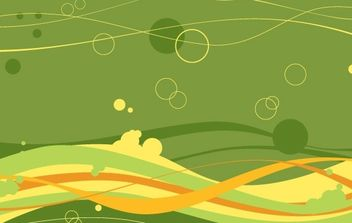 FREE VECTOR WAVES AND BUBBLES BACKGROUND - бесплатный vector #177843