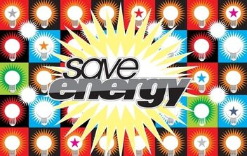 Save Energy Vector - Free vector #177873