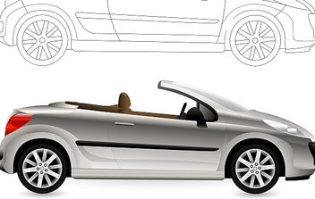 Convertible. Cabriolet Car. - Free vector #177893