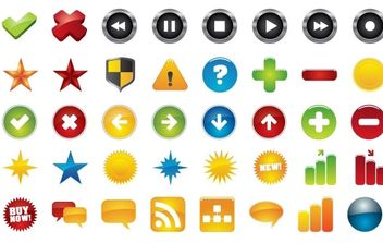icons - vector #178213 gratis