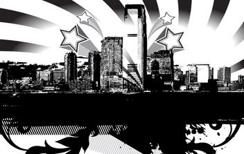 City Skyline Vector - vector gratuit #178433