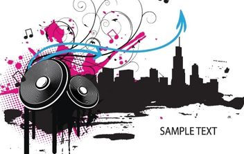 Music illustration - vector #178483 gratis