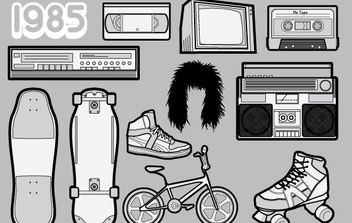 1985 A Free Vector Pack of 80s Icons - vector #178523 gratis
