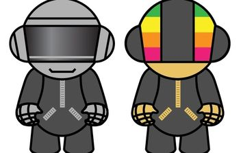 DAFT PUNK DOLLS - vector #178693 gratis