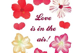 Love is in the air! New free flower vectors - vector #178743 gratis