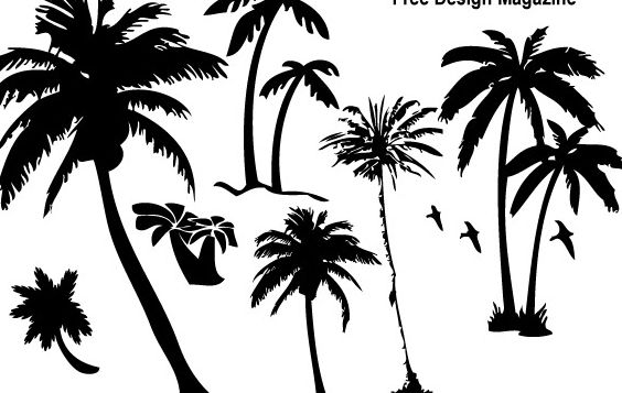 Palm Trees Silhouettes 3 - Free vector #178783