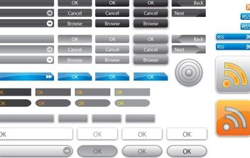 77 Vector Buttons hot off the press. - Free vector #178793