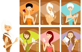 Beauty Girls - vector gratuit #178803