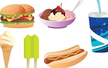 Food Vectors - vector gratuit #178853