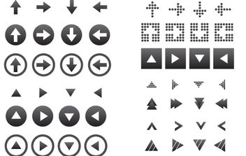 64 Vector Arrow Icons - vector gratuit #178863