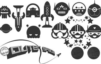 Happy Space Vector Pack - vector gratuit #179113