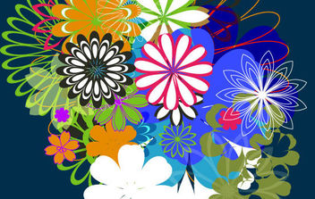 Random Free Vectors - Part 7: Flowers - Free vector #179173