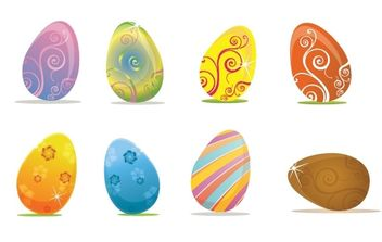 Easter Eggs - vector gratuit #179313