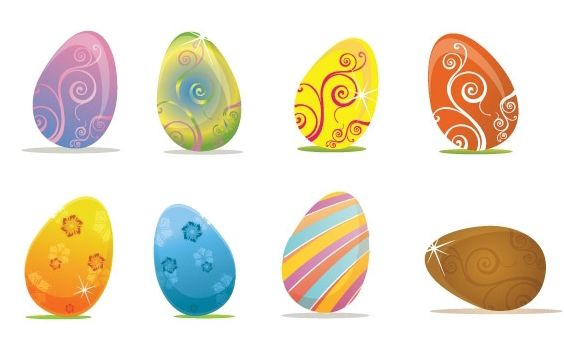 Easter Eggs - Free vector #179313