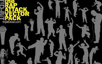 The Rap Attack Vector Pack - vector gratuit #179353