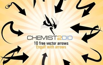 Free Vector Arrows - Engulf with Arrows - vector gratuit #179383