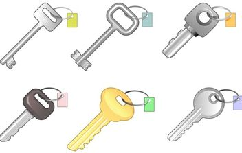 6 different keys - Free vector #179423