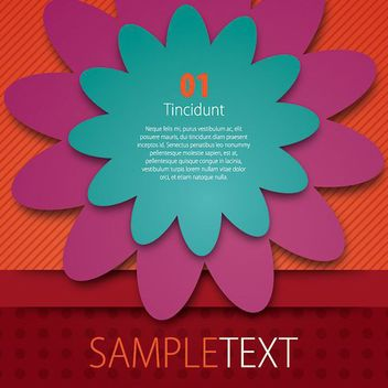 Floral Colorful Flyer Template - vector gratuit #179463