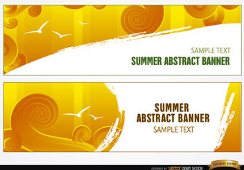 Summer sky swirls headers - бесплатный vector #179553