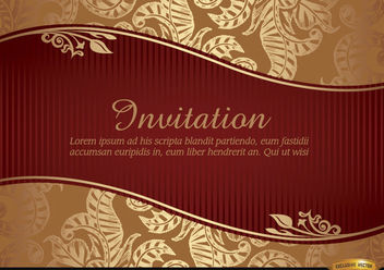 Marriage invitation with riband and pattern - Kostenloses vector #179563
