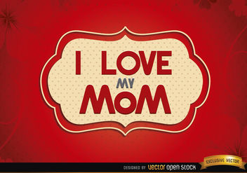Love mom red label - Free vector #179583