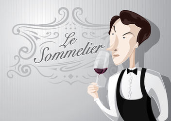 Sommelier cartoon character - Kostenloses vector #179593