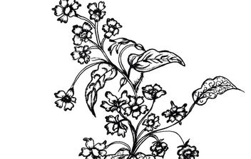 Sketchy Flowers - vector gratuit #179673