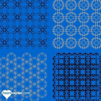 4 Versatile Detailed Patterns - Free vector #179693