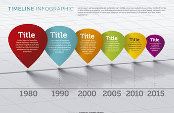 Colorful perspectived timeline - vector gratuit #179773