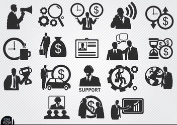 Businessman icons set - vector gratuit #179833
