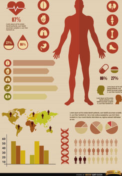 Medical infographics resources - vector gratuit #179853