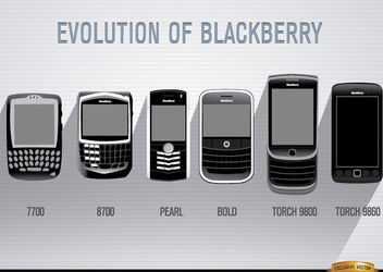 Evolution of Blackberry cell phone - vector gratuit #179873
