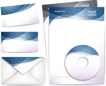 Letterhead CD Business Identity Elements - Free vector #179893