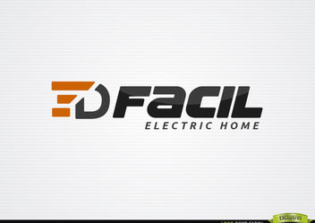 Electric Home logo template - vector gratuit #179923
