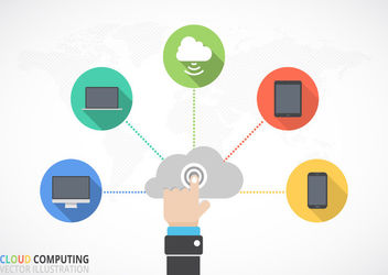 Flat Cloud Computing Infographic - vector gratuit #179953