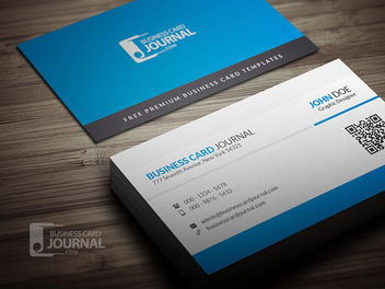 Corporate QR Code Business Card - vector #180023 gratis