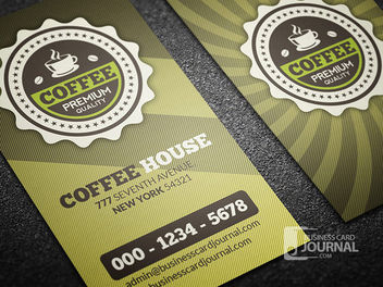 Retro Coffee Shop Business Card - Free vector #180033